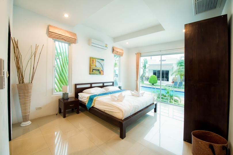 masterbedroom in Hua Hin villa