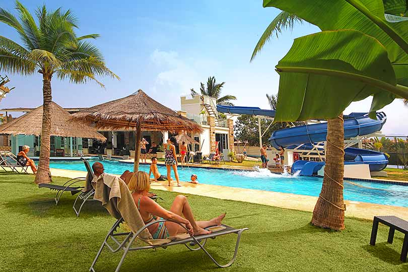 pool villas and water slide